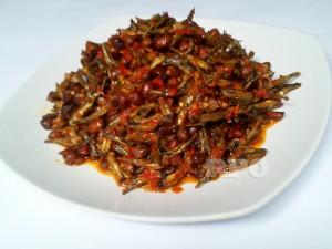 Ikan Teri Kacang Cabe Merah 1/2 Kg