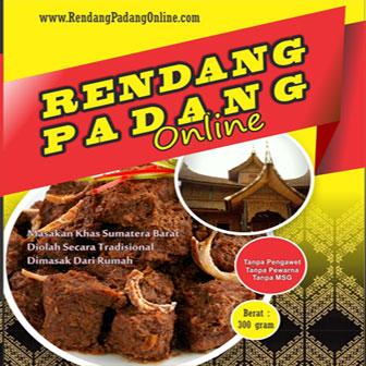 jual rendang Padang kering